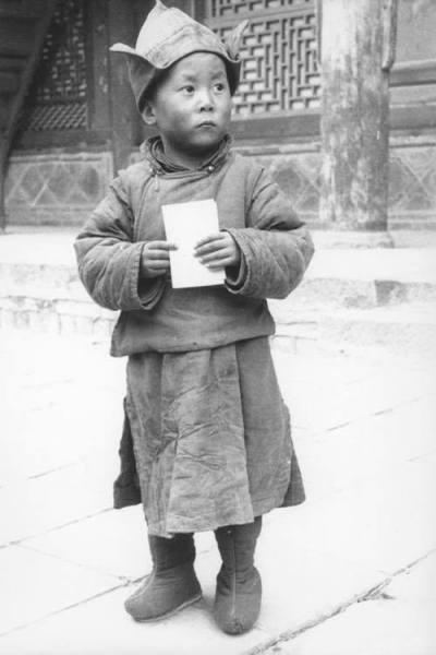 Tenzin Gyatzo de pequeño