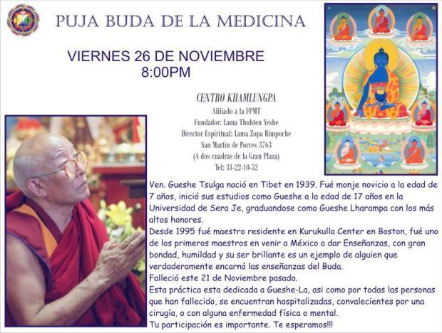 Puja Buda Medicina en Centro Khamlungpa