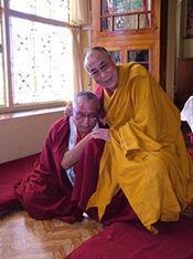 SS Dalai Lama con Lama Zopa Rinpoche