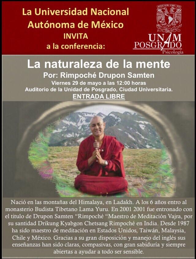 UNAM- Drupon Samten Rimpoche